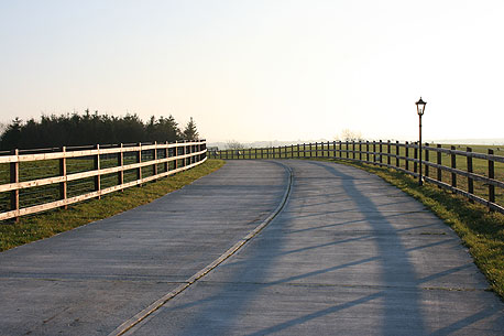 The new driveway at Dartfield.